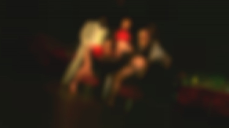 Harcore orgy for three gansters and two hot escort girls in a private club