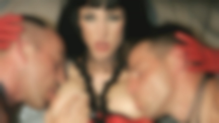 Hardcore sex threesome for two sex slaves with hard cock and a pervie mistress