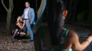 Voyeur moment in the woods for India Summer