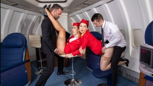 Horny flight on Dorcel Airlines