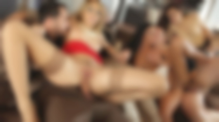 Luxurious orgy with friends and Aleska the dancing girl