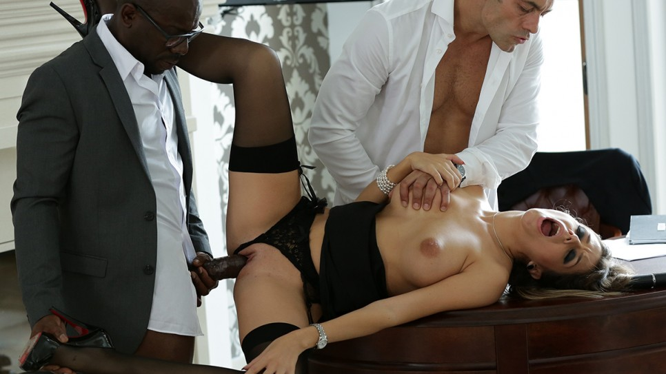 Cara, a devoted secretary banged by her bosses